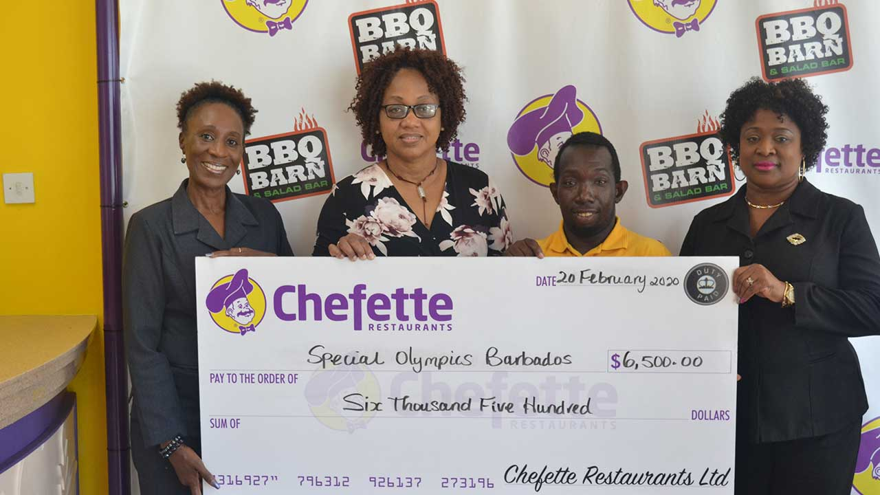 Chefette Assists Special Olympics Barbados