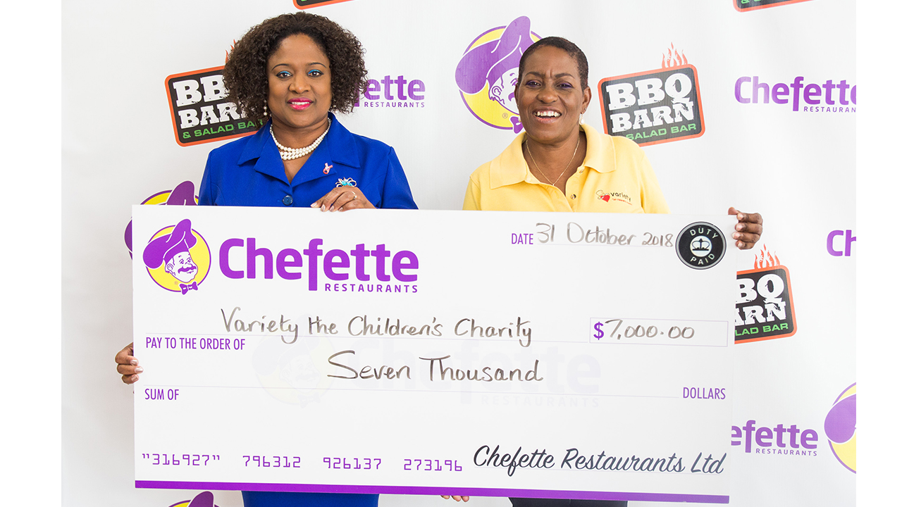 Chefette Donates to Variety the Children's Charity