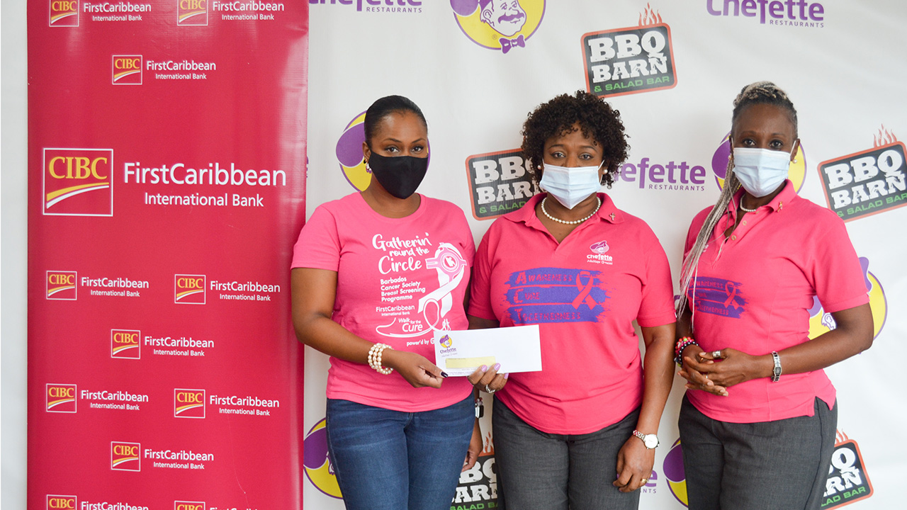 Chefette Supports CIBC FirstCaribbean in the Fight Against Cancer