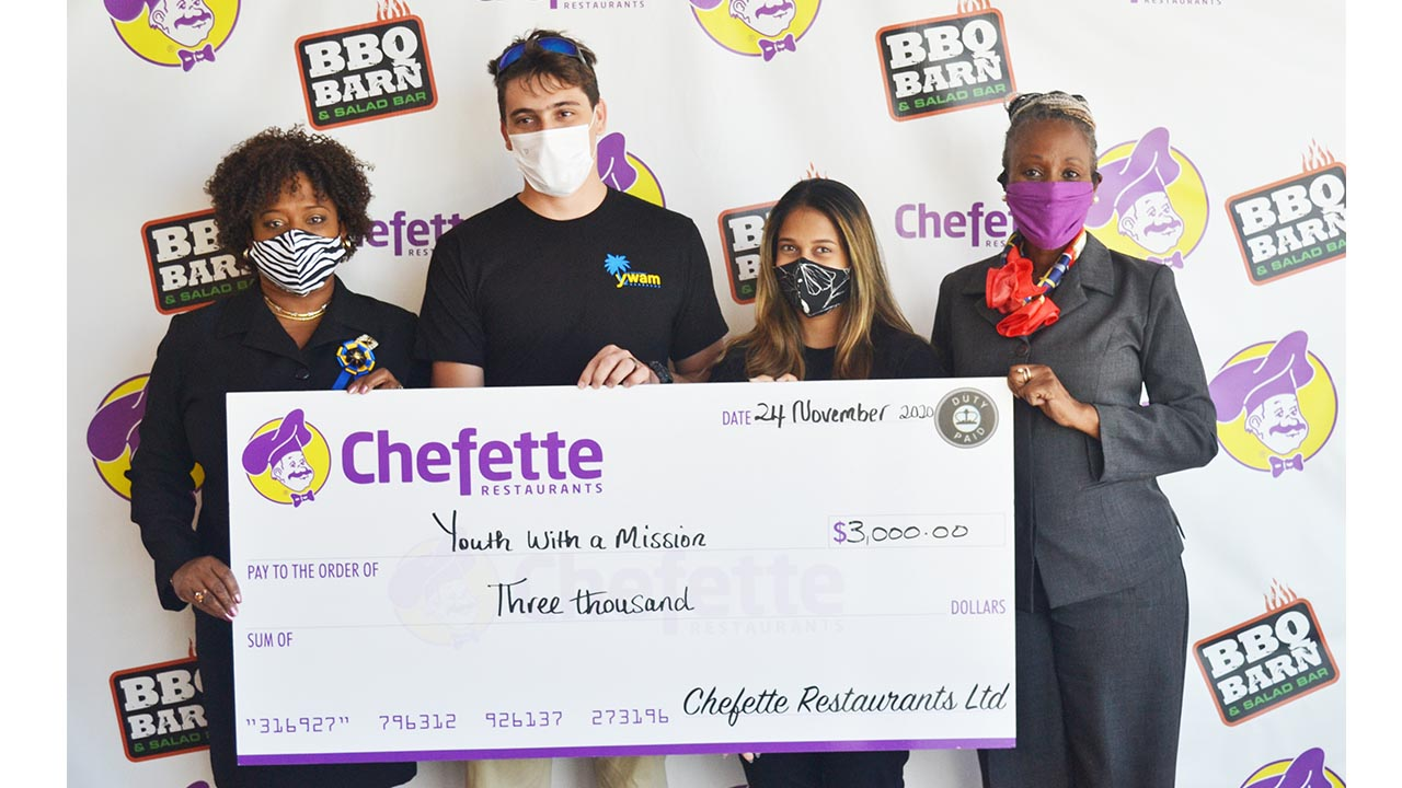 Chefette Donates to Youth With a Mission
